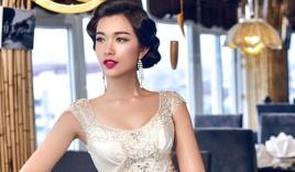 Á hậu Lệ Hằng quyến rũ với váy cưới