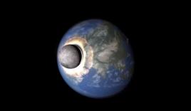 Video: Trái Đất biến thành cầu lửa khổng lồ khi Mặt Trăng đâm vào