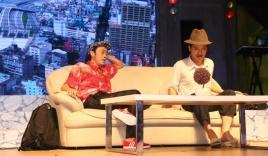 Hoài Linh, Trường Giang nói chuyện điện thoại như 'đọc rap'