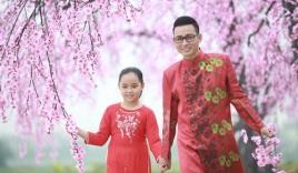 Người tình trẻ của Anh Thơ quay MV tết với con gái nhỏ