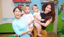 Việt Hương diện áo bà ba làm từ thiện