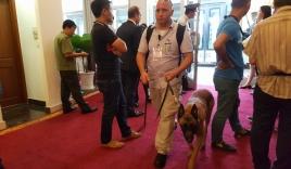 Chuyên cơ của tổng thống Obama sắp hạ cánh, chó nghiệp vụ rốt ráo kiểm tra an ninh
