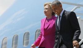 Hillary 'đi nhờ' chuyên cơ Obama, Trump lập tức công kích