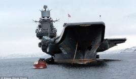 Video: Cận cảnh tàu sân bay duy nhất của Hải quân Nga