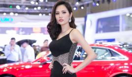 Hoa hậu Diệu Linh gợi cảm bên siêu xe