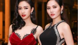 """""""Chị em"""" Á hậu Hà Thu - Diệu Linh tái xuất thảm đỏ bằng phong cách gợi cảm"""