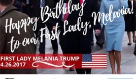Trump đăng ảnh chúc mừng sinh nhật vợ trên Twitter