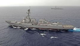 Biển Đông: Tàu chiến Mỹ diễn tập sát đảo nhân tạo phi pháp của Trung Quốc