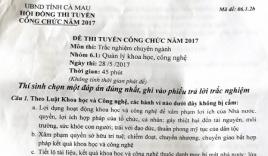 Vụ lộ nguồn tài liệu thi công chức ở Cà Mau: Công an vào cuộc điều tra