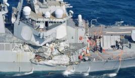 Chiến hạm Mỹ va chạm tàu hàng Philippines, 7 thủy thủ rơi xuống biển mất tích