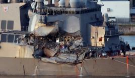 Bảy thủy thủ Mỹ thiệt mạng đang ngủ say khi khu trục hạm bị đâm