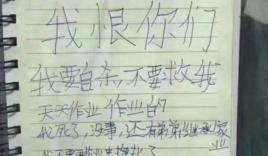 Bức thư tuyệt mệnh đau lòng của bé gái 12 tuổi vì sức ép bài vở