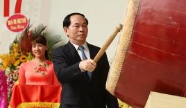 Chủ tịch nước đánh trống khai giảng năm học mới