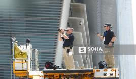 Đặc vụ Mỹ sử dụng ống nhòm, dắt chó nghiệp vụ kiểm tra an ninh nghiêm ngặt khi đón TT Trump tại Đà Nẵng