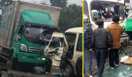 Tuyên Quang: Ô tô tải đối đầu xe khách, nhiều hành khách bị thương