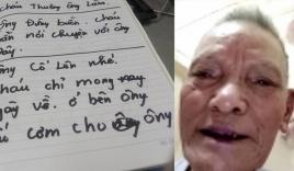 Câu chuyện cảm động: Bị tai biến mất khả năng nghe nhưng ông nội và cháu trai vẫn tâm sự qua những trang giấy
