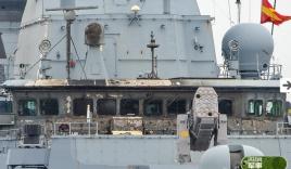 Cận cảnh thiệt hại trên khu trục hạm phòng không Đức sau khi bị tên lửa Mỹ 'hạ gục'