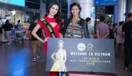 Phan Thị Mơ ra sân bay lúc 12h đêm đón thí sinh Hoa hậu đại sứ du lịch thế giới 2018