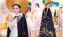 NTK Đinh Văn Thơ thiết kế áo dài cho Phan Thị Mơ đi thi Hoa hậu