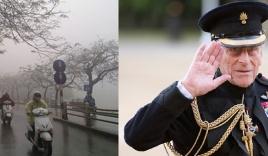 Tin tức 24h ngày 9/4: Hà Nội mưa và lạnh trong hai ngày cuối tuần, Chồng Nữ hoàng Elizabeth II qua đời ở tuổi 99