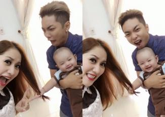 Giải trí - Facebook sao Việt: Hai bố con Phan Hiển trêu đùa, nghịch tóc Khánh Thi