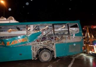 Hiện trường vụ nổ xe khách ở Bắc Ninh