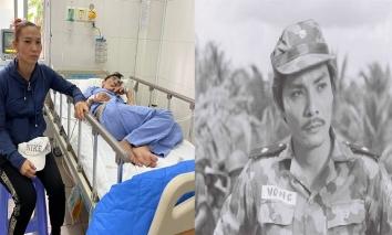 Vợ Thương Tín khuôn mặt mệt mỏi, túc trực bên chồng trong bệnh viện