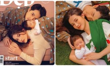 Gia đình Đông Nhi - Ông Cao Thắng xuất hiện như 'cực phẩm' trên bìa tạp chí, biểu cảm của Winnie mới gây chú ý