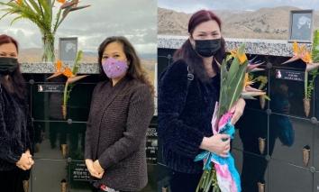 Xót xa hình ảnh vợ cố nghệ sĩ Chí Tài mắt sưng húp thăm mộ chồng sau 1 tháng ngày mất