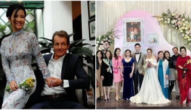 Hồng Nhung tay nắm tay bạn trai ngoại quốc đến mừng hạnh phúc gia đình Thanh Lam