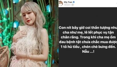 Elly Trần gây tranh cãi với phát ngôn: 'Con nít bây giờ coi thần tượng như cha như mẹ'