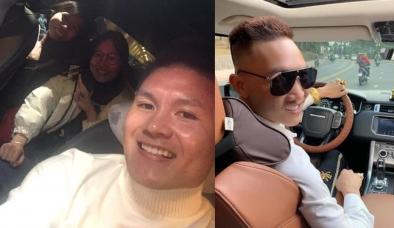 Quang Hải cho 2 người đẹp quá giang trên Mercedes, Huấn Hoa Hồng bất ngờ vào cà khịa