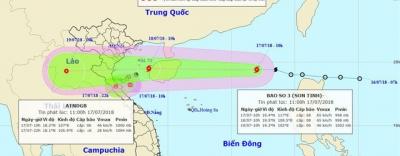 Bão Sơn Tinh, áp thấp nhiệt đới, miền Trung nguy cơ chìm trong lũ