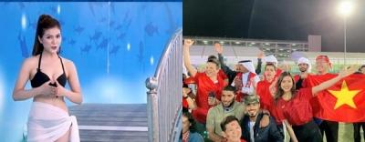 MC mặc bikini bình luận bóng đá xuất hiện trên khán đài trận Việt Nam -Yemen
