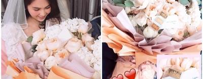 Bạn trai Ngọc Trinh tặng bó hồng khủng, nhưng thứ bên trong mới khiến dân mạng há hốc mồm