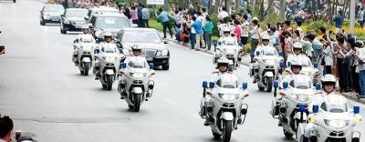 Công an Hà Nội huy động xe đặc chủng, 100\\% quân số tham gia dẫn đoàn đón nguyên thủ Mỹ - Triều