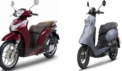 Honda SH Mode rớt giá có nguy cơ bị soán ngôi trước đối thủ mang tên Yamaha Vinoora