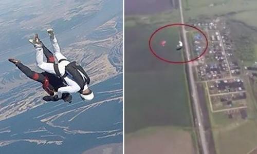 2 người nhảy dù đập đầu vào nhau trên không rồi rơi tự do xuống đất