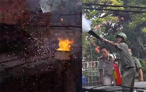 Bốt điện bị cháy nổ, nam thanh nữ tú cổ vũ như Việt Nam vô địch World Cup