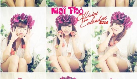 Bộ ảnh lịch truyền thống và sexy của hot girl Mai Thỏ