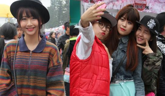 Clip: Hàng trăm người 'đội mưa' để chụp hình cùng dàn hot girl