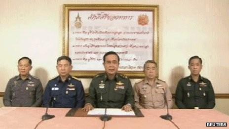 Quân đội Thái Lan đảo chính, áp đặt lệnh giới nghiêm trên cả nước