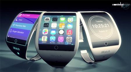 Concept iWatch màn hình cong siêu mỏng có khe SIM