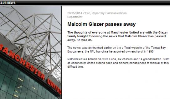 MU nhận tin cực sốc, ông chủ Malcolm Glazer qua đời