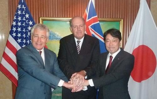Mỹ, Nhật, Australia ra tuyên bố chung phản đối dùng vũ lực thay đổi hiện trạng