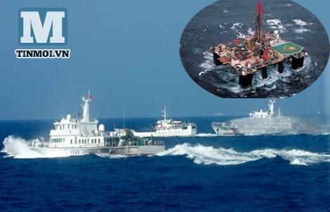 Bão cấp 12 đi vào khu vực hạ TQ đặt trái phép giàn khoan Hải Dương 981