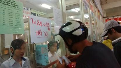 'Cháy' vé xe Tết chất lượng cao ở thành phố Hồ Chí Minh