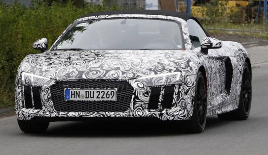 Hé lộ hình ảnh siêu xe Audi R8 Spyder 2016 trên đường thử