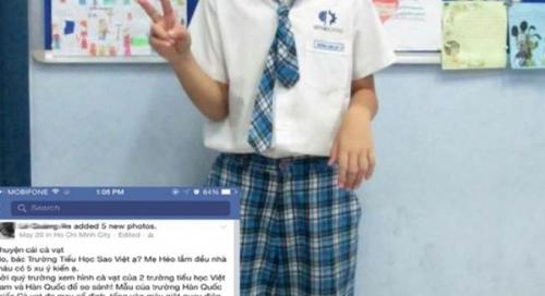 VstarSchool đuổi học sinh: 'Bạn' cà vạt thật là… 'xấu'