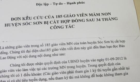 Hà Nội: Kiểm điểm các hiệu trưởng vụ sa thải gần 200 giáo viên